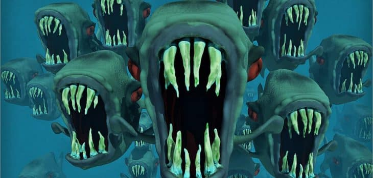 intermittierendes fasten raeumt die zellen auf, Monster mit aufgerissenem Maul