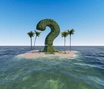 intervallfasten aber wie beginnen, eine Insel mit einem riesigen Fragezeichen