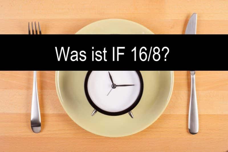Was ist Intervallfasten / intermittierendes Fasten Teller mit Uhr und Besteck