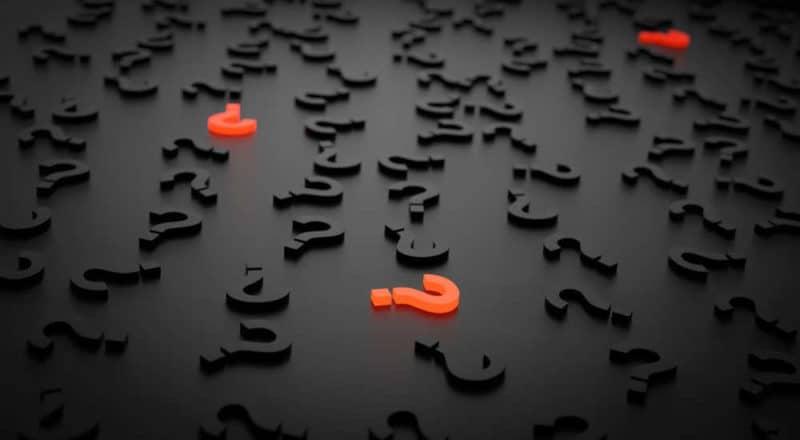 Häufig gestellte Fragen zum Intervallfasten - Fläche mit vielen Fragezeichen